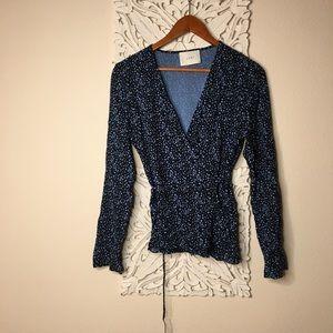 Anthropologie wrap blouse